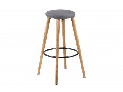 Barová židle Hector Wood šedý