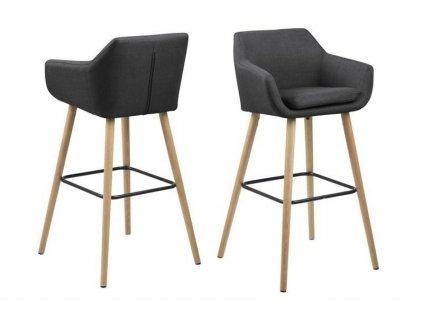 Barová židle Nora tmavě šedý