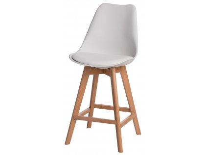 Barová židle Norden Wood Low PP bílý