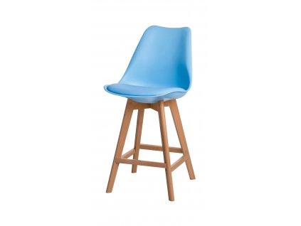 Barová židle Norden Wood Low PP světle modrý