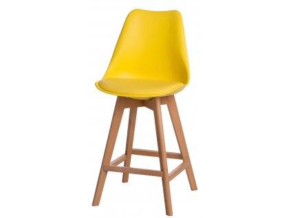 Barová židle Norden Wood Low PP žlutý