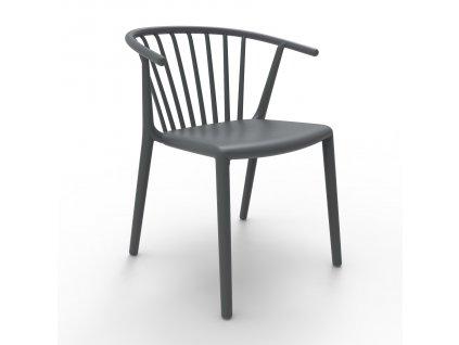 Židle Woody tmavě šedá