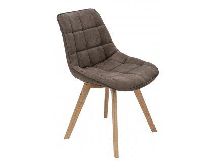 Židle Woody čalouněná hnědá 1024