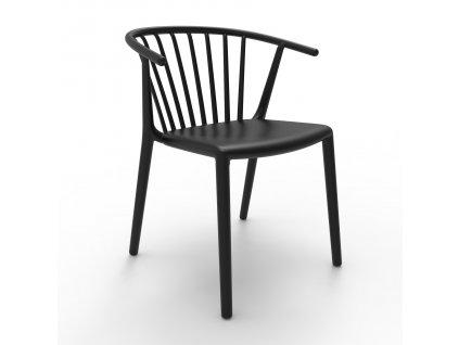 Židle Woody černá