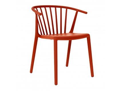 Židle Woody červená