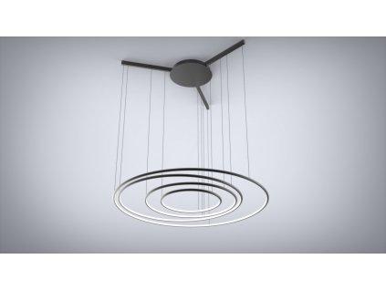 Lampa Ledové kruhy No.3 CO černá in 3k 100cm