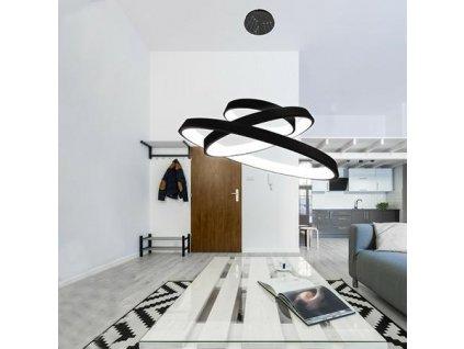 Lampa závěsná SMD 12 černá