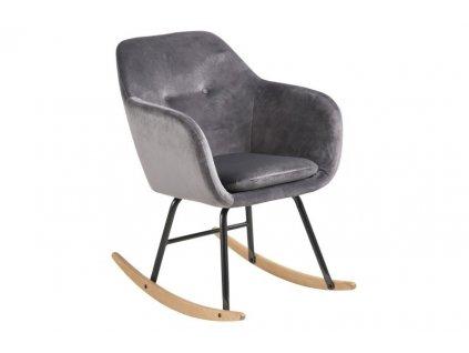 Židle houpací Emilia Vicente tmavě šedá