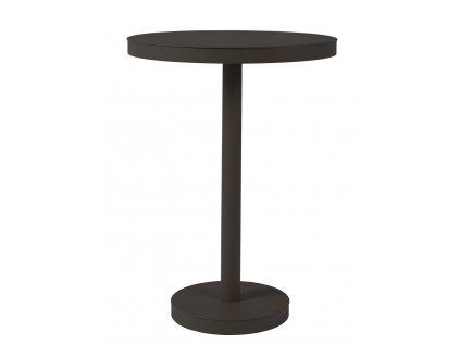 Stůl Barcino vysoký, kulatý 60cm středová podstava - černý