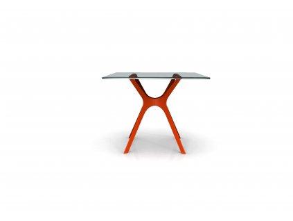 Stůl Vela 120x80 červená podstava