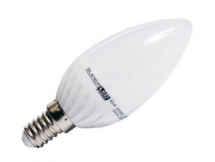 Žárovka LED E14 6W svíčka teplá bílá