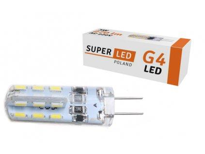 Žárovka LED G4 3W silikon AC 230V teplá bílá