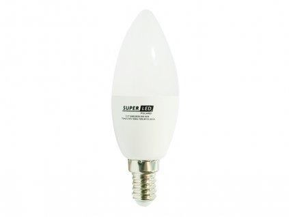 Žárovka LED E14 8W svíčka teplá bílá