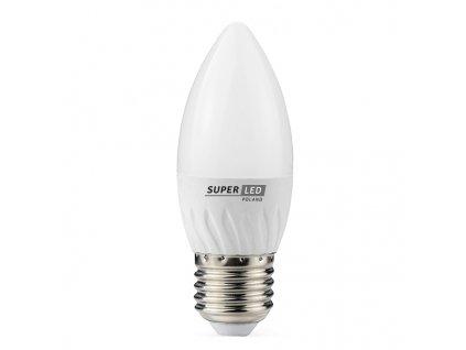 Žárovka LED E27 6W svíčka teplá bílá