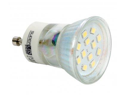Žárovka LED GU10 GU11 SMD 2835 2,4W teplá bílá