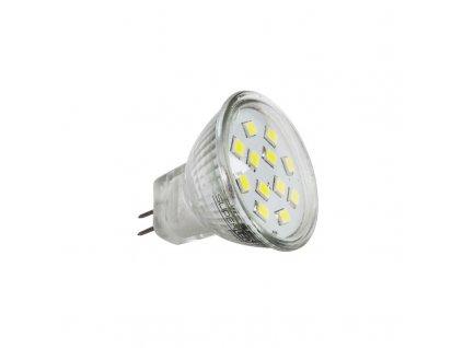 Žárovka LED MR11 SMD 2835 2,4W 12W studená bílá