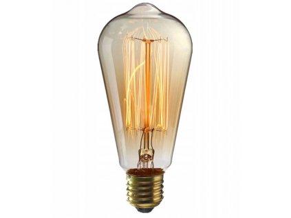 Žárovka ST64 Edison 60V Ozdobná super teplá