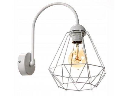 Nástěnná lampa Diamant Slim SuperLED bílá