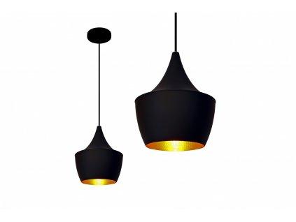 Lampa závěsná Loft Gold E27 černá