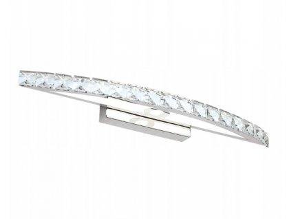 Nástěnná lampa koupelna LED 10W 44cm stříbrná