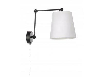 Lampa nástěnná stínidlo se spínačem E27 LED bílá