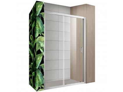 Dveře sprchové Slide - Rozměry dveří slide: 110 cm