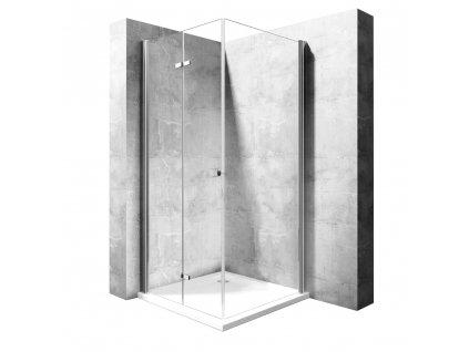 Kabina sprchová Best 120 - Rozměry kabiny Best: 120 Dveře x 90 Stěna