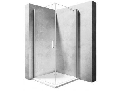 Kabina sprchová Free Space N2 90 x 90 - Profil: levý