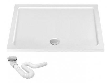Vanička sprchová akrylátová Breno bílá - rozměry vaničky: 80 x 120