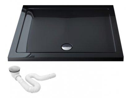 Vanička sprchová akrylátová Breno černá - rozměry vaničky: 80 x 120