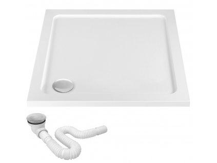 Vanička sprchová akrylátová Ego bílá - rozměry vaničky: 90 x 90