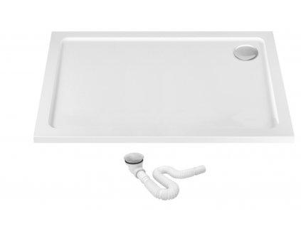 Vanička sprchová akrylátová Porta 80 x 120 - Profil: pravý