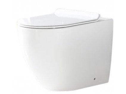 Mísa záchodová obdélníková Carlo Rimless Duroplast