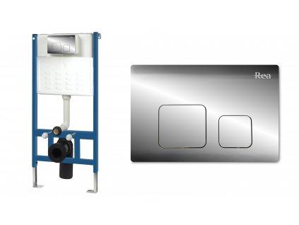 Sada rámová pro WC mísy s tlačítkem F Chrome