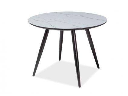 Stůl IDEAL efekt mramoru/černá kostra 100x100