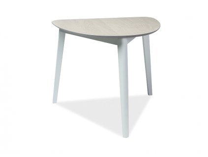 Stůl KARL dub bělený/bílý 90x80