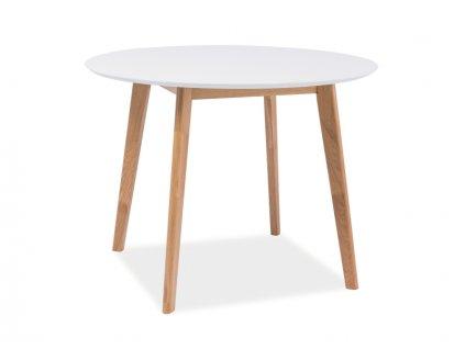 Stůl MOSSO II bílý/dub 90x90