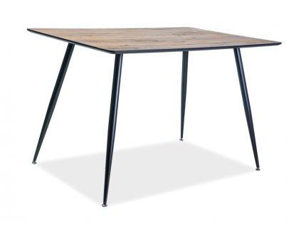 Stůl REMUS ořech/černá kostra 120x80