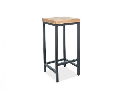 Barová židle METRO H-1 dýha přírodní dub/černý