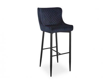 Barová židle COLIN B H-1 Velvet černá kostra/černý Bluvel 19