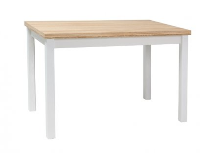 Stůl ADAM dub / bílý mat 120x68