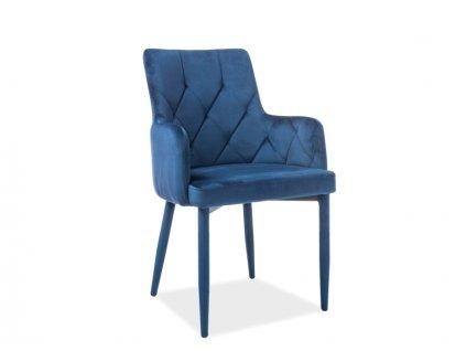 Židle RICARDO Velvet tmavě modrý Bluvel 86