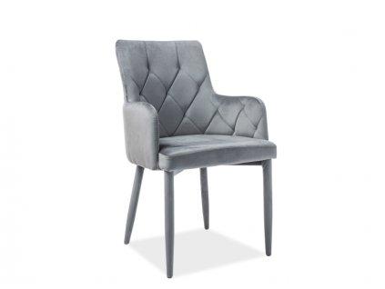 Židle RICARDO Velvet šedý Bluvel 14
