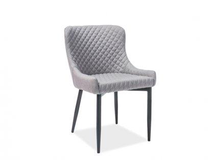 Židle COLIN B černá kostra/šedé polstrování č.06