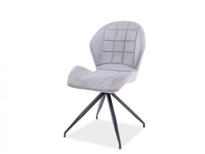 Židle HALS II černá kostra/světle šedé polstrování č.14