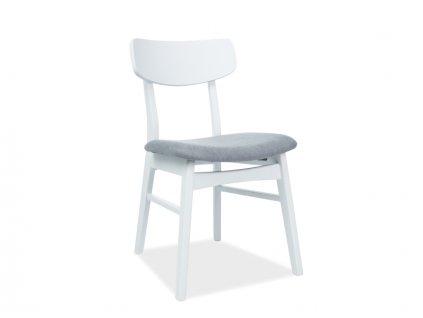 Židle CD-62 bílý/šedé polstrování č.136