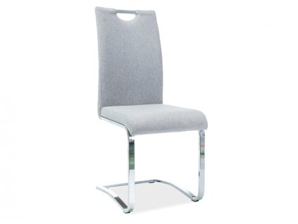 Židle H790 chrom/šedé polstrování č.97