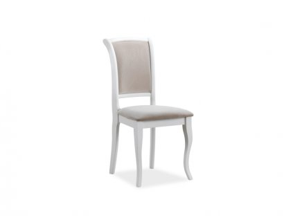 Židle MN-SC bílá/béžové polstrování č.132