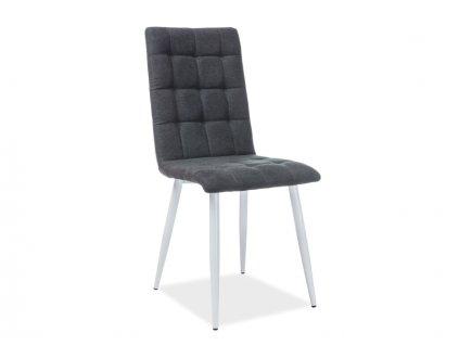 Židle OTTO bílá kostra / černé polstrování č. 118