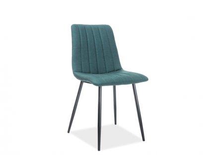 Židle ALAN černá kostra / zelené polstrování č. 122